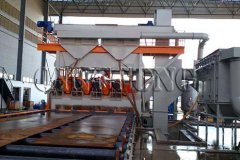 Roller Conveyor Shot Blasting Machine Type HD